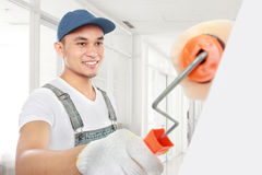 Painter working stock images