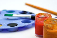 Painter workplace Royalty Free Stock Image