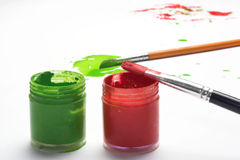Painter workplace Stock Photography