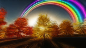 Painterly Autumnal Rainbow Royalty Free Stock Photos