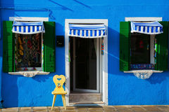 Painterly house front in Burano Stock Photo