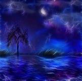 Painterly nattscape Royaltyfri Foto