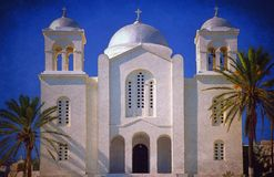 Painterly skutek na fotografii Greckokatolicki kościół zdjęcie stock