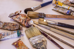 Painters Art Supplies Stock Photography