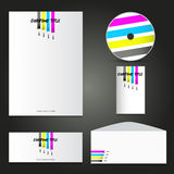 Painters business stationery mock up Stock Photography