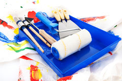 Painters equipment Royalty Free Stock Images