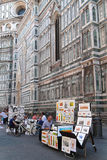 Painters in front of Florence Cathedral Stock Images