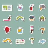 Painters icons Royalty Free Stock Image
