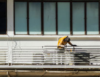 Painters painting a building and design. Royalty Free Stock Images