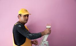 Painters painting construction worker workman Stock Photos