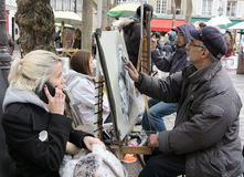 Place du Tertre Paris Royalty Free Stock Image