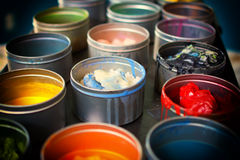 Painters paints royalty free stock photos