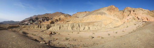 Painters Palette Death Valley - Panorama Royalty Free Stock Image
