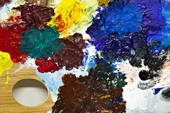 Painters palette detail Royalty Free Stock Image