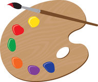Painters Palette Royalty Free Stock Photography