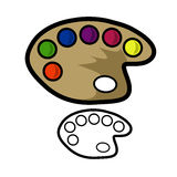 Painters Palette Royalty Free Stock Photo