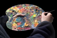 Painters pallet Royalty Free Stock Photos