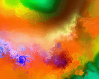 Painters Pallet. Multi hued Painters Pallet with painterly textures Stock Images