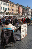 Painters on Piazza Navona. royalty free stock image