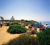 Painters by Point Loma Lighthouse Stock Image