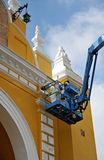 Painters working at height, Spain Royalty Free Stock Photography