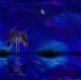 Paintertly nightscape Royaltyfria Bilder