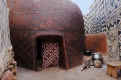 Paintethuizen in tiebele in Burkina Faso royalty-vrije stock afbeelding