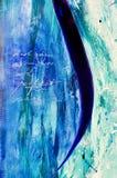 Painti acrílico abstrato moderno Imagem de Stock