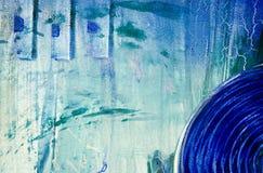 Painti acrílico abstrato moderno Fotos de Stock Royalty Free