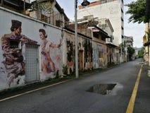 Paintin d'art de rue dans Ipoh, Malaisie photographie stock libre de droits