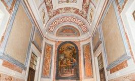 Paintin in een kleine kapel Royalty-vrije Stock Foto's