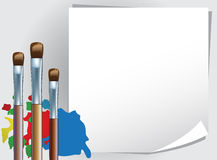 Painting. To draw painting by a brush Stock Photography