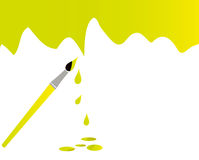 Painting. A wall with brush Royalty Free Stock Images