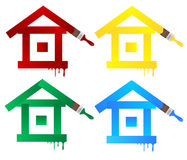 Painting. Illustration of painting houses icon Stock Image