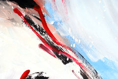 Painting. Photo of my abstract painting Royalty Free Stock Image