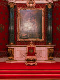 The painting above the throne. A visit to the Hermitage as part of a cultural forum in St. Petersburg Stock Images