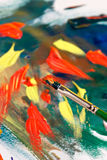 Painting abstract Stock Photography
