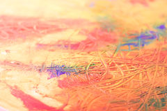 Painting of abstract. Mix oil colors on canvas Stock Photos