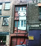 A mural painting on a wall in London. royalty free stock images