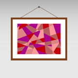 Painting abstraction. Painting on the wall, a picture icon. Flat design, illustration royalty free illustration
