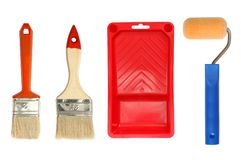 Painting accessories Royalty Free Stock Images