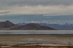 Painting Antelope Island Royalty Free Stock Images