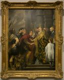 A painting by Anthony van Dyck in the National Gallery in London Stock Images