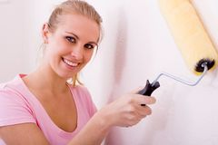 Painting apartment Stock Image