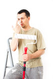 Painting the apartment Royalty Free Stock Image