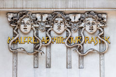 Painting architectural sculpture secession Royalty Free Stock Images