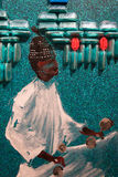 Painting Art: Arab Men with Turban and White Traditional Tunics Royalty Free Stock Photography