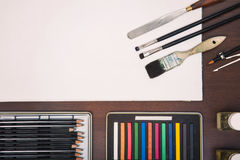 Painting art supplies Stock Image