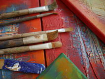 Painting art tools creative painting Royalty Free Stock Image