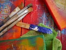 Painting art tools creative painting Stock Photos